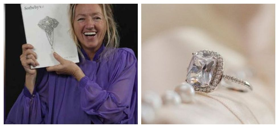 Charity worker finds out her glass ring was worth a fortune (Photo: Twitter)