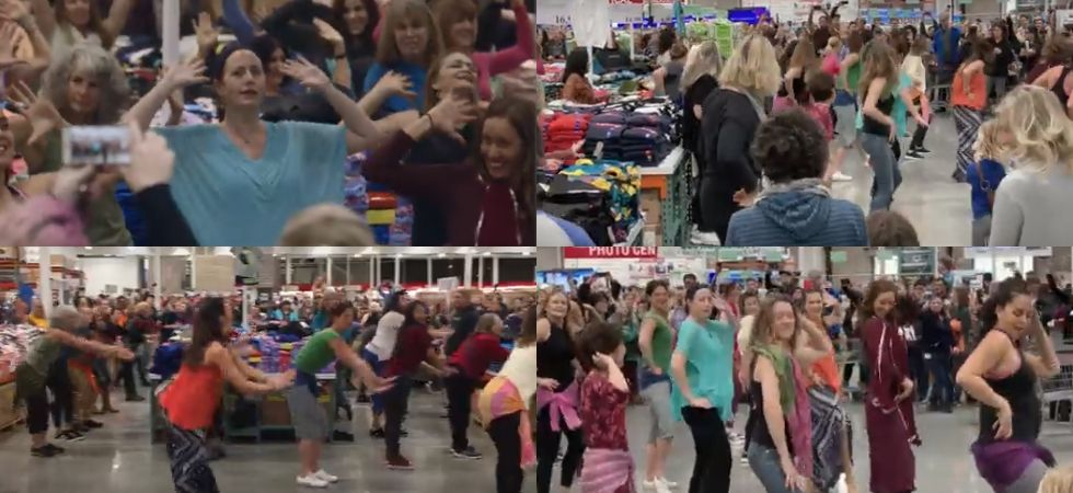 Bollywood fever grips California, flash mob dances to London Thumakda./ Image: YouTube