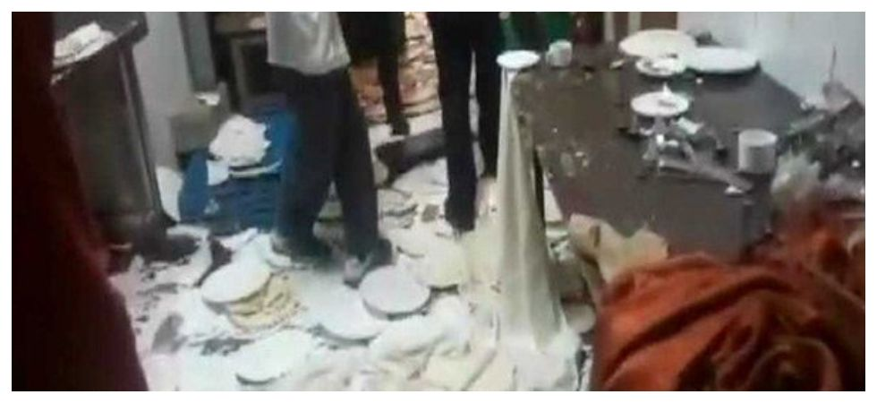 Hotel staff in Delhi assaulted for serving cold (Photo: Twitter)