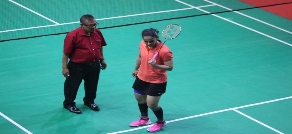 The official convinced ace shuttler Saina Nehwal to play her game in the evening. (Image credit: Jaideep Vaidya)