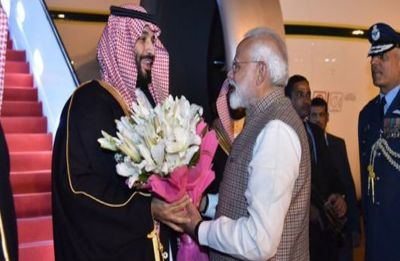 PM Modi breaks protocol, receives Saudi Arabia Crown Prince at Delhi's Palam Airport
