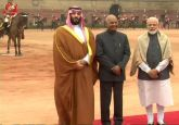 Saudi Arabia Crown Prince Mohammed Bin Salman arrives at Rashtrapati Bhavan