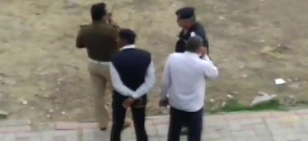 Firing near Akshardham Temple in Delhi, attacker nabbed by police (Image Credit: ANI)