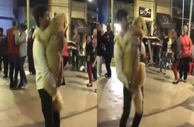This video of man dancing with dog to 'Careless Whisper' is the sweetest thing you'll see today