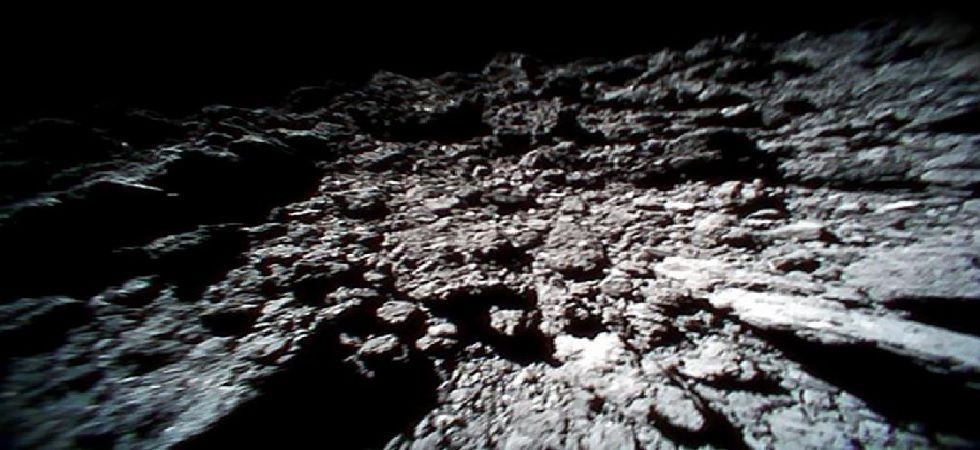 During sample collection, the spacecraft was set to approach the 1km-wide asteroid with an instrument called the sampler horn. (File photo)