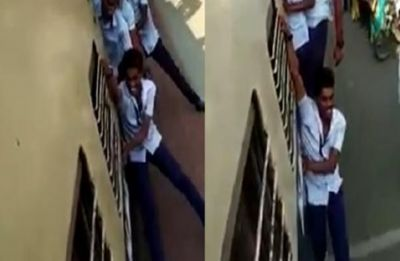 Students carelessly perform dangerous stunts on train, WATCH viral video