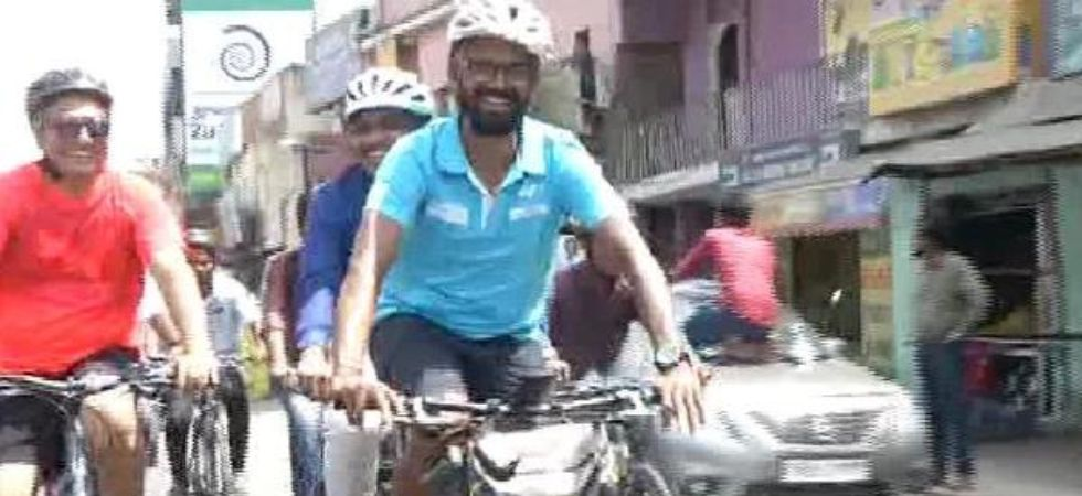 Chennai engineer to padle 8,500 kms to raise awareness about human trafficking (ANI)