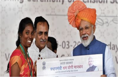 'I am mazdoor number 1,' says PM Modi during launch of pension scheme in Gujarat
