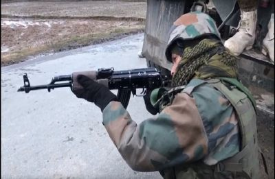 Terrorist killed in exchange of fire with security forces in Handwara, encounter still on