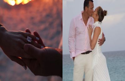 Jennifer Lopez is engaged to Alex Rodriguez ; flaunts a diamond worth $1 million