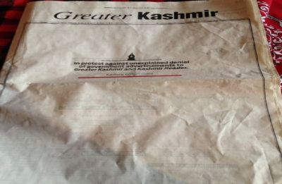 Newspapers run blank front pages in Kashmir to protest 'denial' of government ads to 2 dailies