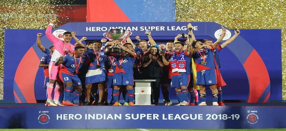 Bengaluru FC were boosted by a goal from Rahul Bheke to clinch the ISL title after winning the final against FC Goa. (Image credit: Twitter)