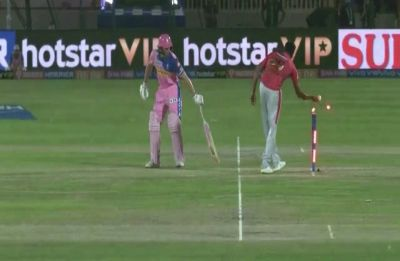 IPL sees rare sight - Jos Buttler gets mankaded by Ravichandran Ashwin