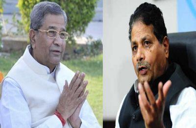 Former BJP leaders Ghanshyam Tiwari, Surendra Goyal join Congress in presence of Rahul Gandhi