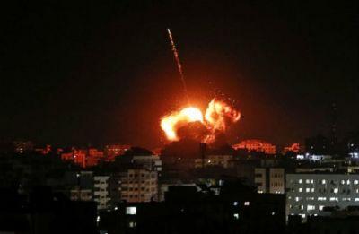 Israel strikes Gaza after rare rocket attack near Tel Aviv