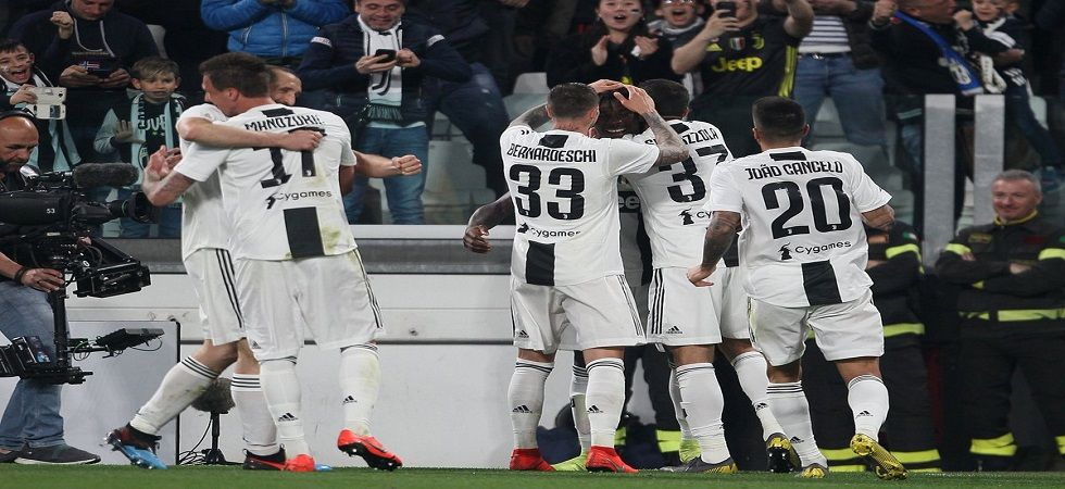 Juventus came closer to sealing their eighth consecutive Serie A title with a 1-0 win over Napoli as they extended their lead to 15 points with nine games remaining. (Image credit: Twitter)