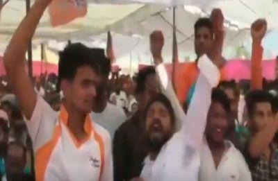 Watch: Dadri lynching accused chants 'Yogi, Yogi' at UP Chief Minister's mega poll rally