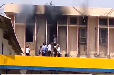 Fire breaks out at Air India Building near Delhi Airport Terminal 1