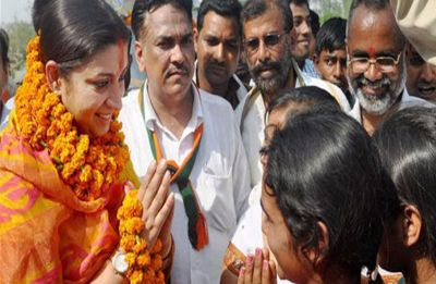 Smriti Irani's dig at Rahul Gandhi: Ram's 'vanvas' ended in 14 years, but Amethi's will end after 15 years