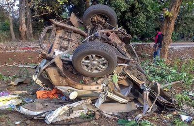Maoists' IED blast splits BJP MLA Bhim Mandavi's bulletproof SUV into two