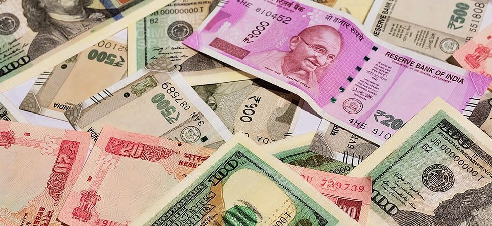 The rupee opened at 69.65 at the interbank forex market and then fell further to 69.73, down 8 paise over its last close
