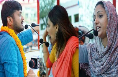 With mega 'red' show, friend  Swara, Shehla join Kanhaiya Kumar during filing of nomination