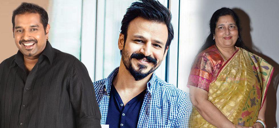 Shankar Mahadevan, Vivek Oberoi and Anuradha Paudwal