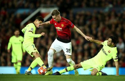 Manchester United concede own goal in UEFA Champions League clash against Barcelona