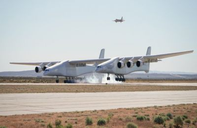Stratolaunch, world's largest plane, makes first test flight in California