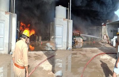 Massive fire breaks out at rubber godown in Delhi's Siraspur, 26 fire tenders at spot