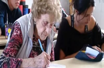 Watch VIDEO: Woman goes back to school at the age of 99, wins hearts