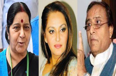 On Khan's shocker, Swaraj's Mahabharat jab at SP: Don't be Bhishma on Draupadi's 'chir haran'