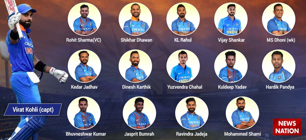 Image result for 2019 icc world cup indian squad