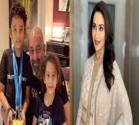 I made my kids Shahraan and Iqra meet Madhuri Dixit on the sets of Kalank: Sanjay Dutt