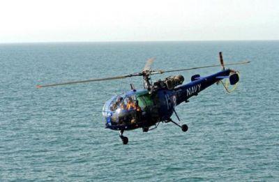 Navy's Chetak helicopter deployed on board Talwar-class frigate crashed in Arabian Sea