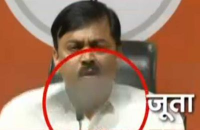 Shoe hurled at BJP spokesperson GVL Narasimha Rao during press conference