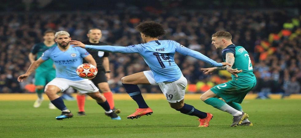 Manchester City will be bidding to resume their title push for the Premier League against Tottenham Hotspur, who knocked them out of the UEFA Champions League. (Image credit: Twitter)