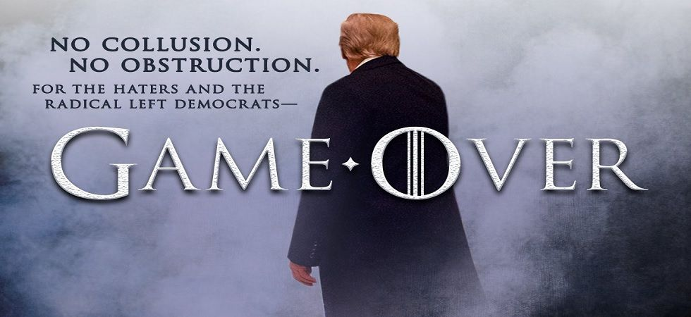 """President Donald Trump has used """"Game of Thrones"""" imagery to push for his wall on the US-Mexico border (Photo: Twitter)"""