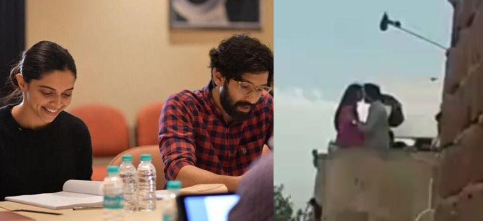 Deepika kisses Vikrant on the sets of 'Chhapaak'; unedited scene leaked