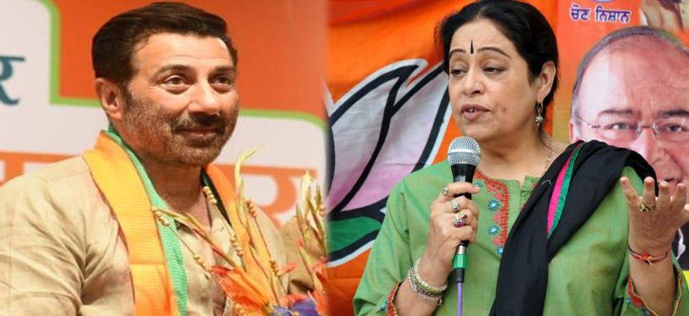 Sunny Deol (Left), Kirron Kher (Right)