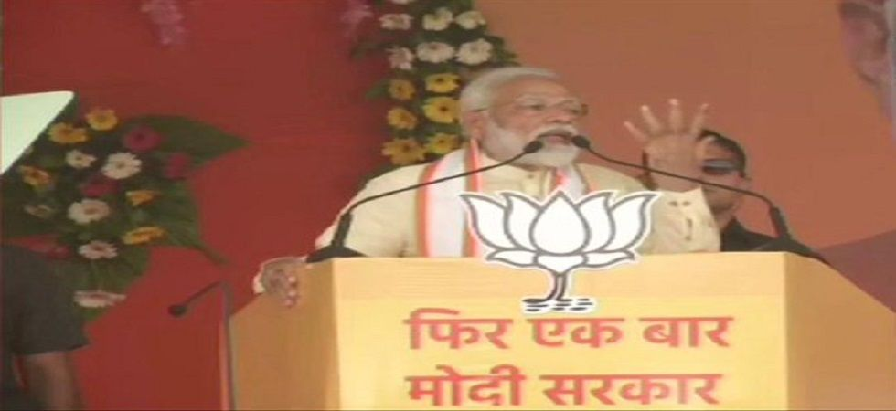 Addressing a rally here, Modi said the opposition parties have no option left but to accept defeat. (Photo: ANI)