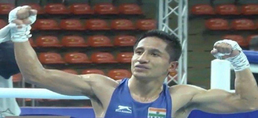 Kavinder Singh Bisht upstaged reigning world champion Kairat Yeraliyev of Kazakhstan and also stunned Mongolian Enkh-Amar Khakhuu. (Image credit: Twitter)