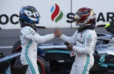 Valtteri Bottas holds off Lewis Hamilton, wins Azerbaijan Formula One Grand Prix