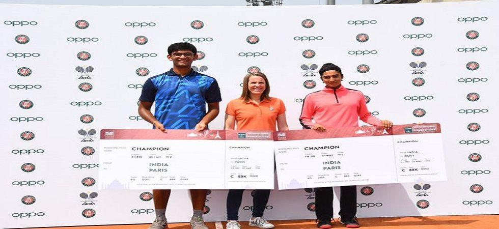 Mann Maulik Shah won the 2019 French Open junior wild card tennis tournament. (Image credit: Twitter)