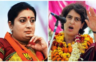 Priyanka Gandhi Vadra, Smriti Irani spar over viral video showing kids abusing Modi in front of former