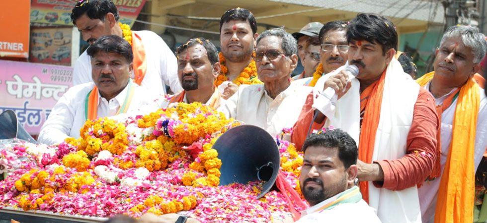 Manoj Tiwari is seeking reelection from North East Delhi parliamentary seat. (Image Credit: News Nation)