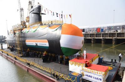 Indian Navy's fourth stealth Scorpene class submarine INS Vela launched for trials
