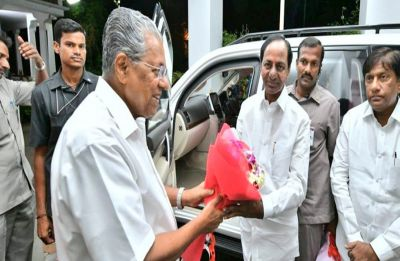 KCR meets Pinarayi Vijayan with 'federal front' idea, 'busy' Stalin may adjourn meeting