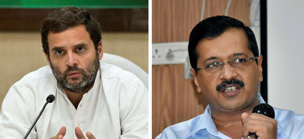 I clearly told Kejriwal ji that we have to win all seven seats in Delhi... First, he agreed. Even I concurred with the proposal. But then he brought in talks on Haryana and Punjab. Then he took a U-turn, Rahul Gandhi said. (File photo)