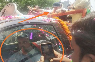 Gautam Gambhir using his 'lookalike' for campaigning to avoid heat, AAP claims, tweets picture